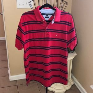 Tommy Hilfiger Polo Golf Shirt Large Pique